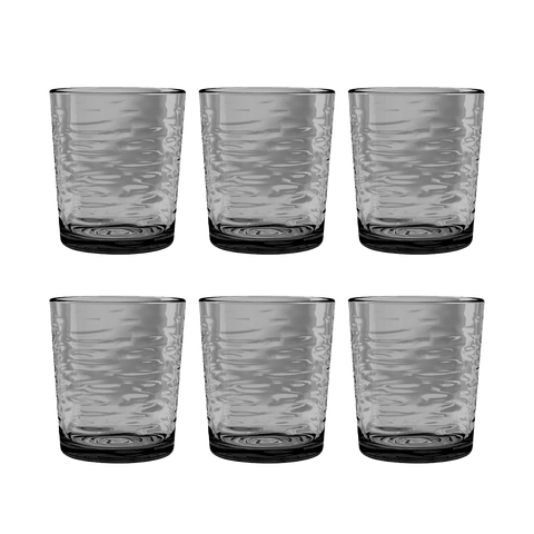 Foundry DOF, Gray, 14.3 oz., Acrylic, Set of 6