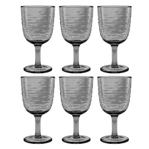 Foundry Goblet, Gray, 13.5 oz., Acrylic, Set of 6