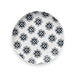 "Black Bamboo Medallion Assorted Salad Plate, 8.5"", Planta (Majority Plant Based Melamine Material), Set of 4"