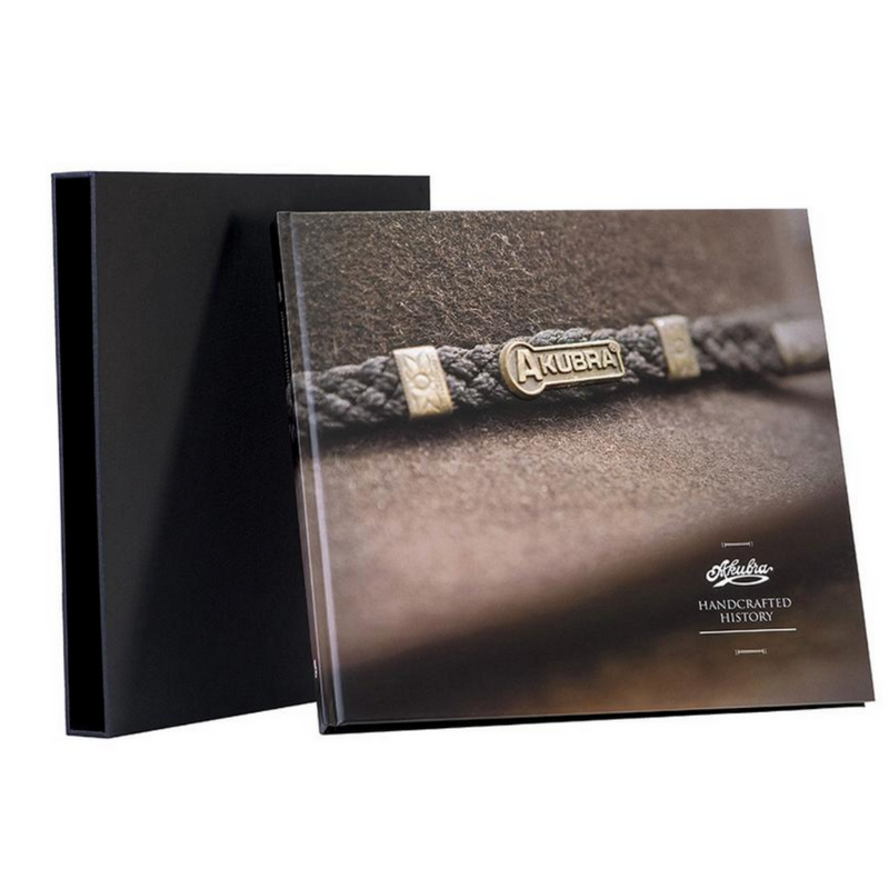 Akubra Handcrafted History Book and presentation sleeve