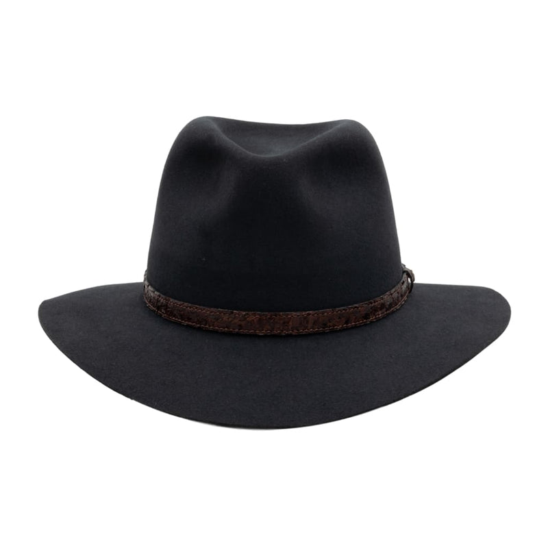 Side view of Akubra Banjo Paterson hat in Graphite grey colour