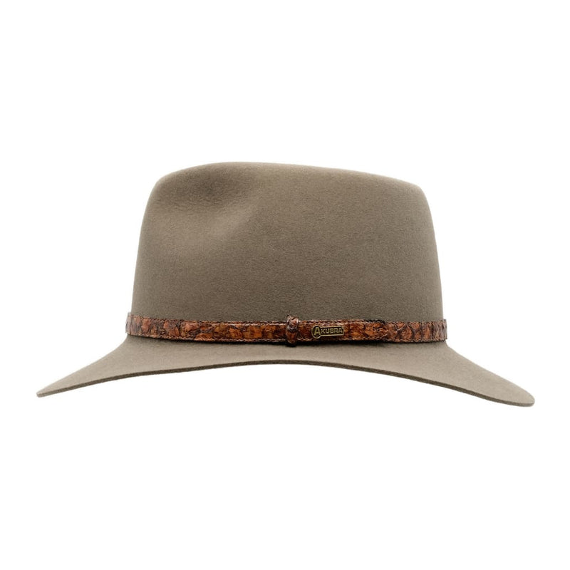 Side view of Akubra Banjo Paterson hat in Heritage Fawn