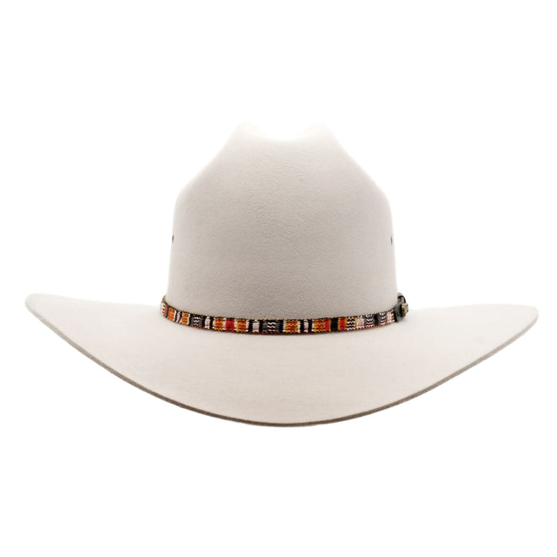 Front view of Akubra Bronco hat in quartz colour.