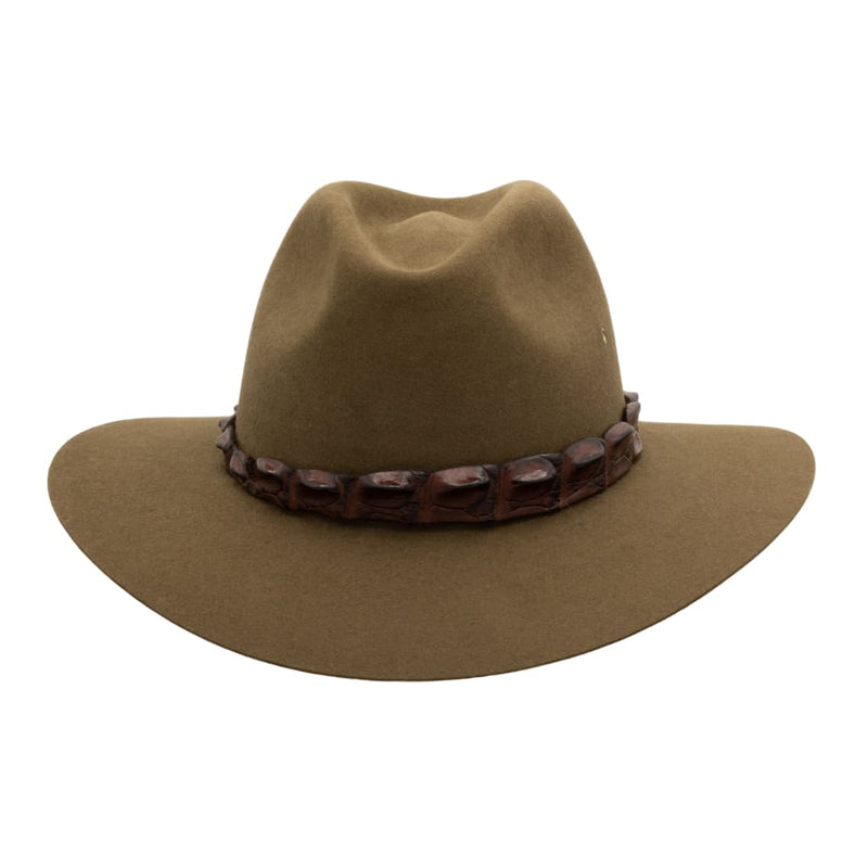Front view of Akubra Coolabah hat in Khaki colour
