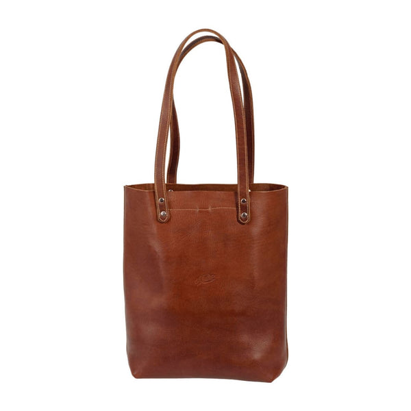 Front view of Darling Tote in Chestnut Brown