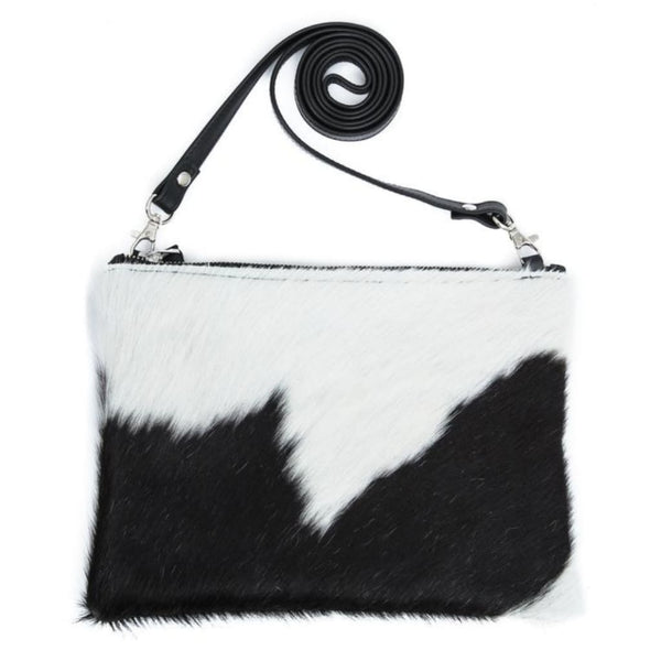 Georgina Pouch - Black & White Cowhide - Georgina Pouch
