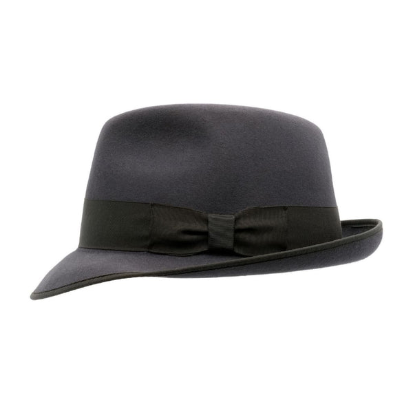 Side view of Akubra Hampton Carbon Grey hat