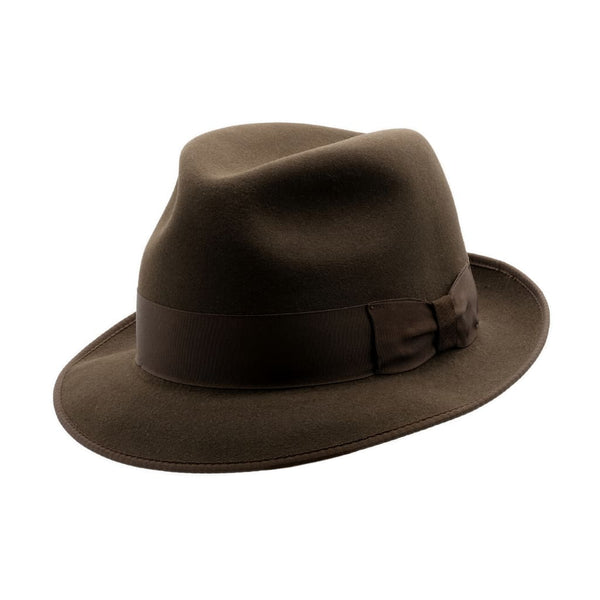 Angle view of  Akubra Hampton Cedar Brown hat