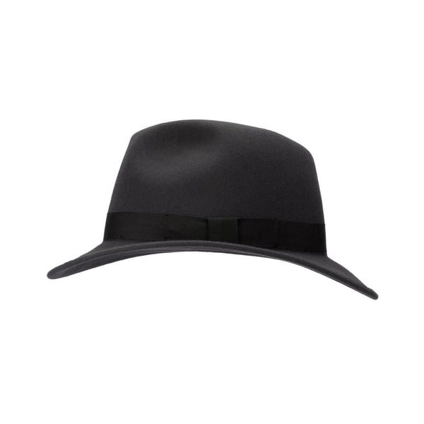 Side view of Akubra International hat in Carbon Grey