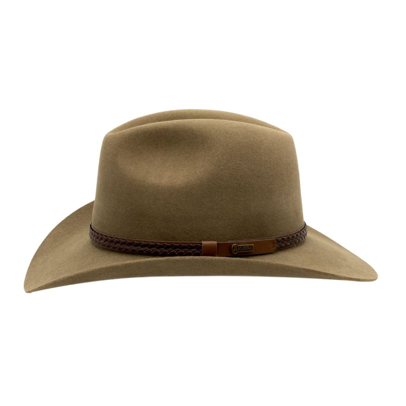 Side view of Akubra Kiandra hat in Santone colour