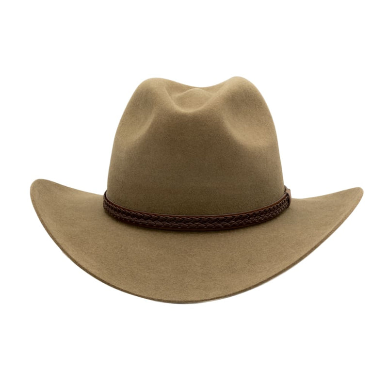 Front view of Akubra Kiandra hat in Santone colour