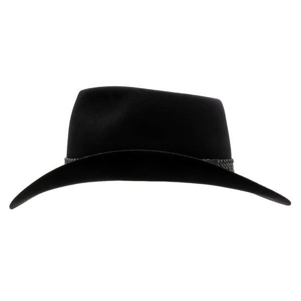 Side view of Akubra Snowy River hat in black