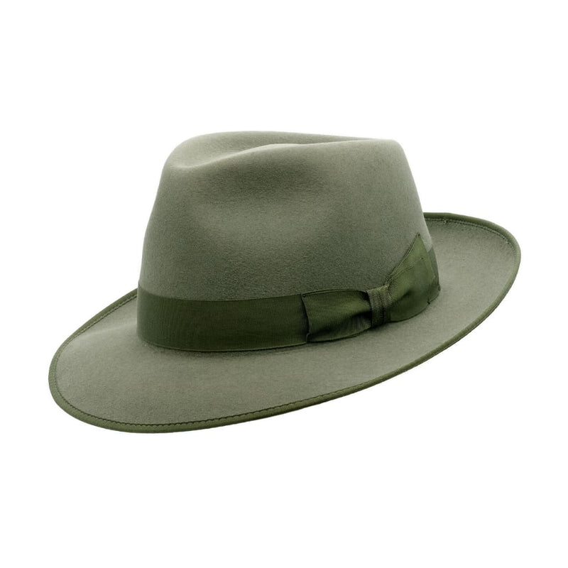 Angle view of Akubra Stylemaster Bluegrass Green hat