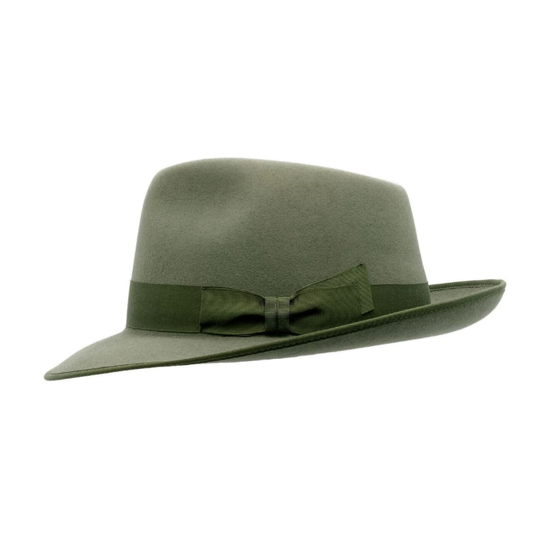 Side view of Akubra Stylemaster Bluegrass Green hat