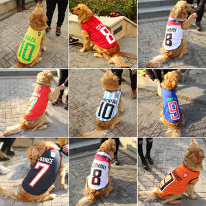 Hot Spring Pet Summer Clothes for Dogs Tshirt NBA Jersey Soccer Football Jersey Style Soft Breathable Vest for All Dogs XS-6XL - Bonnies Bargain Boutique