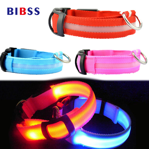 LED Night Flashing Glowing Pet Dog Collar, USB Charging Collar Luminous for Dogs Cats Dog Accessories Dog Supplies - Bonnies Bargain Boutique