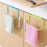 Kitchen/ bathroom Organizer Towel Rack/ Hanging Holder . fits most cabinet doors - Bonnies Bargain Boutique