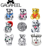 GAGAFEEL Unique  Animal, Bear, Lucky Cat, Dog, reindeer Beads Charms Fit Pandora - Bonnies Bargain Boutique