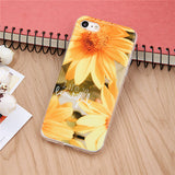 Fashion Sunflower Phone Cases For iPhone 6 6s Plus SE 5 5s Case Ultra Thin Soft TPU GEL Rubber Cover  Flowers Pattern - Bonnies Bargain Boutique