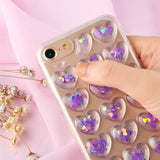 Glitter Sequins 3D  Phone Cases For iPhone 8 7 6 6s Plus Case Bling Transparent Soft Gel Back Cover of hearts - Bonnies Bargain Boutique