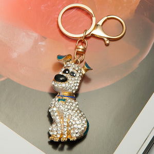 Dog Rhinestones alloy keychain/ring metal - Bonnies Bargain Boutique