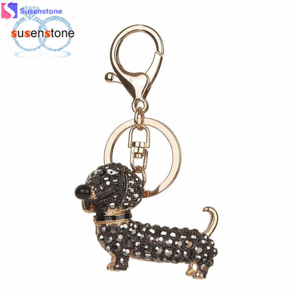 Dog Rhinestone Tassel Key chain purse charm/ Key Ring - Bonnies Bargain Boutique