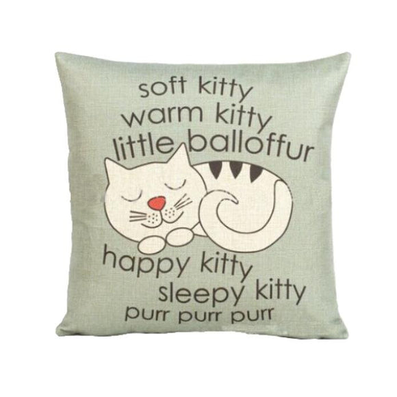 soft kitty Cat Pillow Case/Throw Cushion Cover Home Decor - Bonnies Bargain Boutique