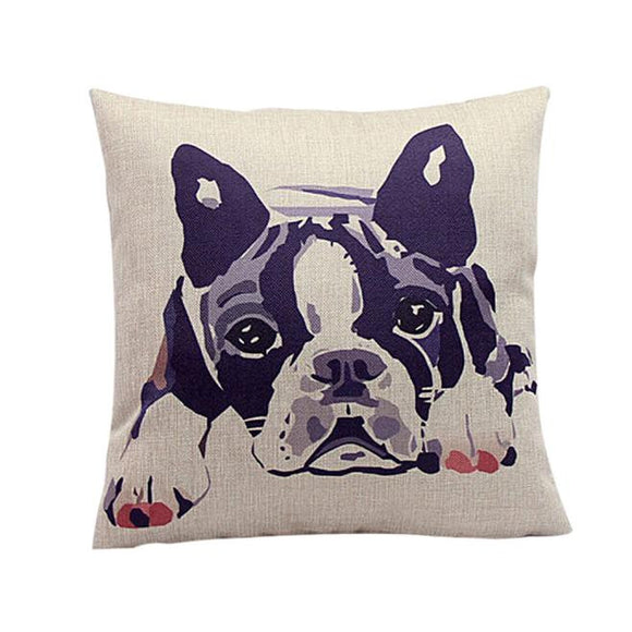 Bulldog Pattern  Home Decor Pillow Case/ Cushion Cover - Bonnies Bargain Boutique