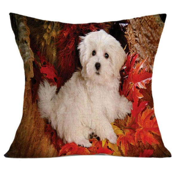 Vintage Cute Dog Pillow Case / Throw Cushion Cover - Bonnies Bargain Boutique