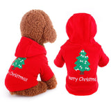 Christmas Costume Xmas Tree Print Dog/pet Hoodie Warm Coat Jacket  Hooded - Bonnies Bargain Boutique
