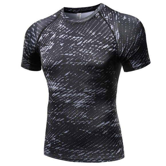 Milk Silk Fitness Men Short Sleeve Exercise Casual T Shirt Print Mens Compression  Shirt S8 - Bonnies Bargain Boutique