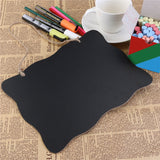 ULTNICE 2pcs Mini Rectangle & Round Chalkboard Double Sided Message Board with String for Message Board Sign - Bonnies Bargain Boutique