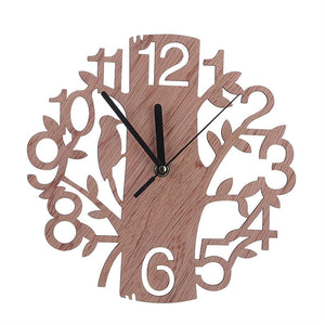Creative Tree Shaped Wooden Wall Clock House Living Room Decoration - Bonnies Bargain Boutique
