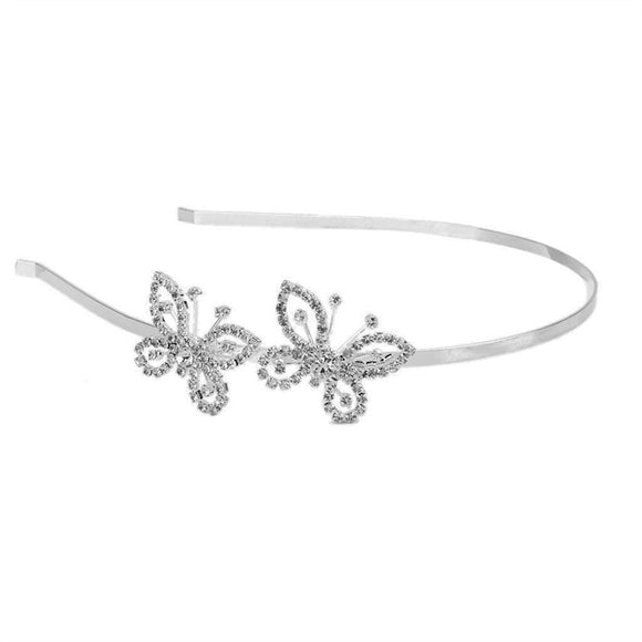 Wedding Bridal Butterfly Shaped Rhinestone Tiara / Hair Barrettes / Hairband / Hair Clip / headband - Bonnies Bargain Boutique
