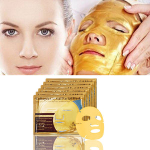 Gold Bio-Collagen Cream Hydrating Facial Mask Whitening Anti-Aging Repair Skin - Bonnies Bargain Boutique