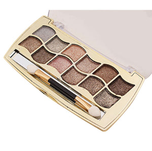 New 12 Colors Women Pro Eyeshadow Shimmer Palette. warm and neutral tones - Bonnies Bargain Boutique