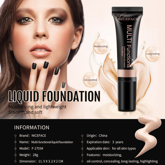 NICEFACE Makeup Liquid Foundation Moisturizing Waterproof Concealer BB Cream. skin primer - Bonnies Bargain Boutique