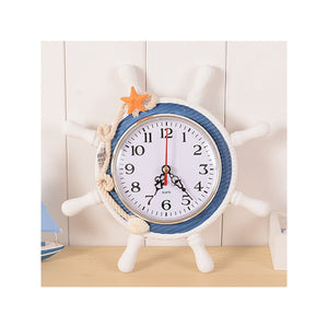 Mediterranean Wall Clock with Rope Decor silent ticking (Random Color) - Bonnies Bargain Boutique