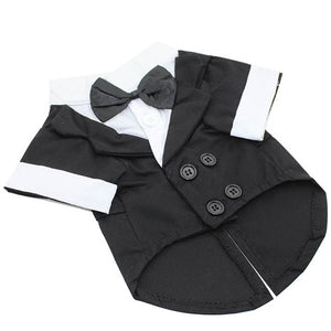 Tuxedo Pet/ Dog  Bow Tie suit/ Wedding Party Jacket Coat for Dog /Cats - Bonnies Bargain Boutique