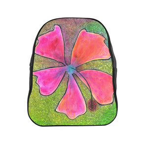 School Backpack--Hibiscus bag