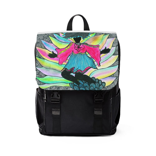 Unisex Casual Shoulder Backpack--Angel