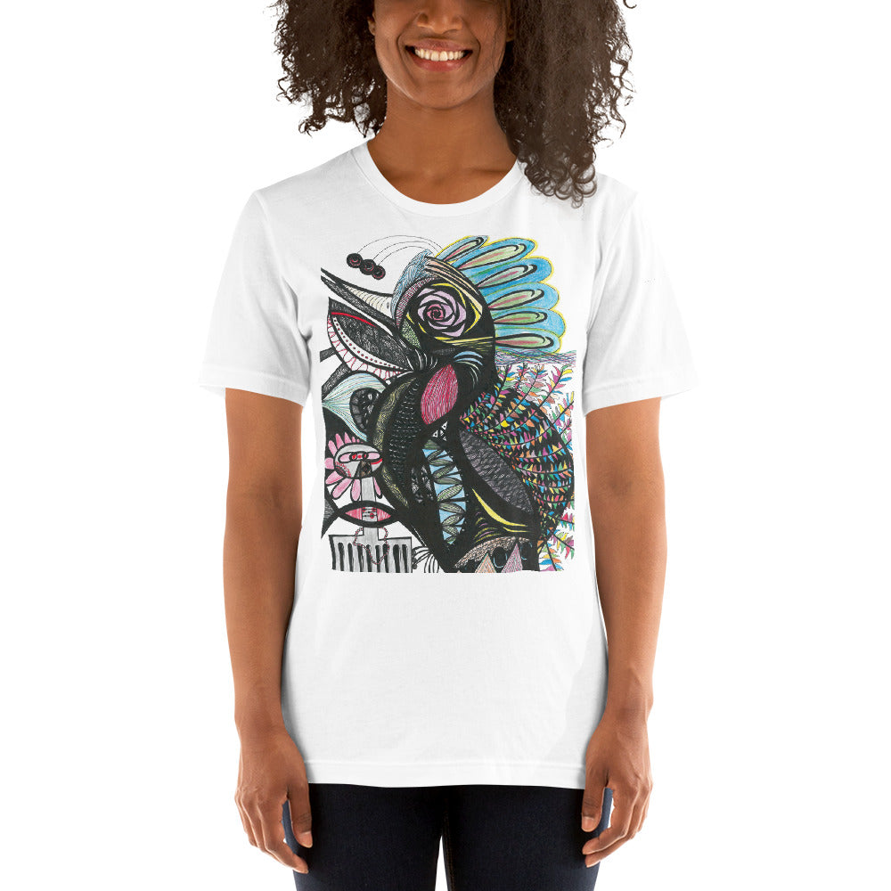 Short-Sleeve Unisex T-Shirt--Tropical Bird
