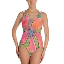 One-Piece Swimsuit--HIbiscus