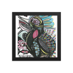 Framed poster--Tropical Bird