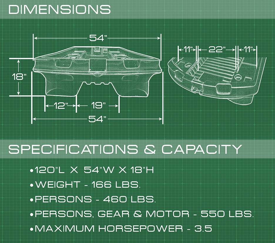 BH-120 SPECIFICATIONS SHEET- BASS HUNTER BOATS