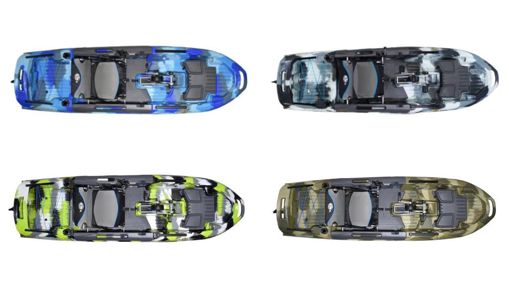 BIG FISH 108 3 WATERS KAYAKS ALL COLORS WAVE URBAN TERRA GREEN CAMO 11 FOOT FISHING KAYAK PEDAL DRIVE