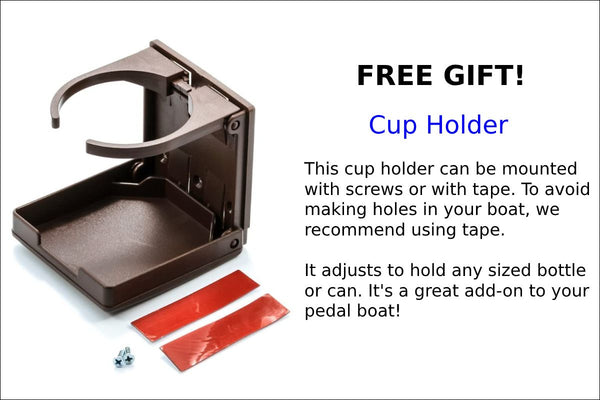 FREE GIFT- CUP HOLDER- NAUTICRAFT PEDAL BOATS