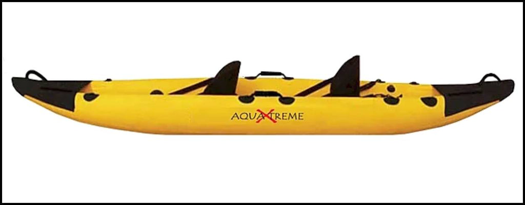Full Stealth Sea Kayak by Aqua Xtreme- Transparent folding kayak that fits in a car- top view