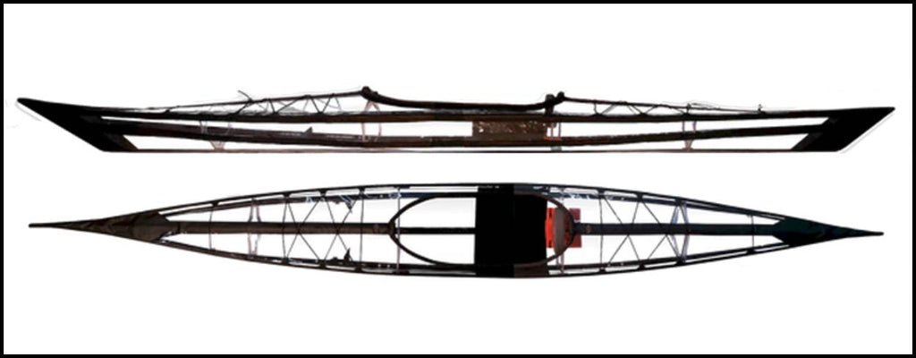 Full Stealth Sea Kayak by Aqua Xtreme- Transparent folding kayak that fits in your car