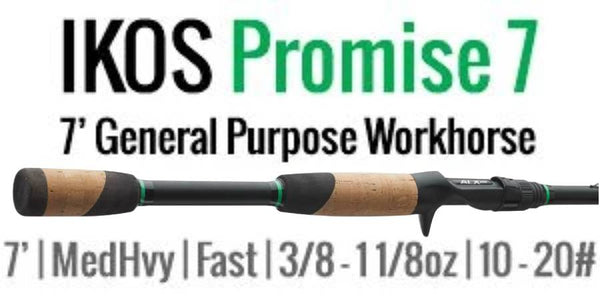 IKOS PROMISE 7 MEDIUM HEAVY FAST ALL AROUND CASTING ROD